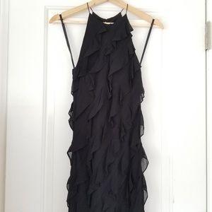 RALPH by Ralph Lauren Black Ruffle Can Can Dress